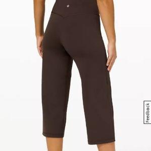 🆕 Lululemon align wide leg black crop athletic legging pants